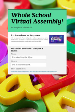 Whole School Virtual Assembly!