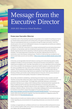 Message from the Executive Director