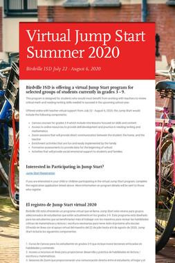 Virtual Jump Start Summer 2020