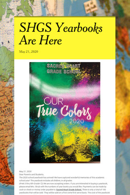 SHGS Yearbooks Are Here