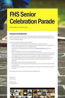 FHS Senior Celebration Parade