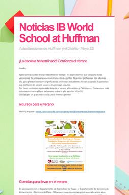 Noticias IB World School at Huffman