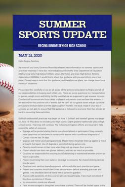 Summer Sports Update