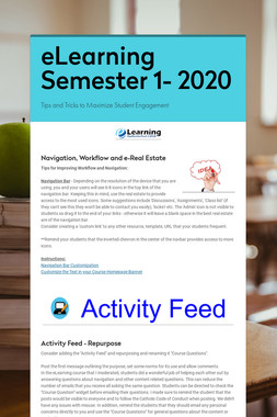 eLearning Semester 1- 2020