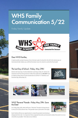 WHS Family Communication  5/22