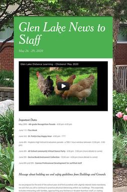 Glen Lake News to Staff