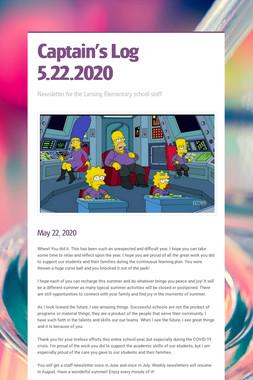 Captain's Log 5.22.2020