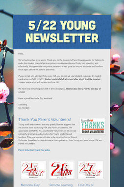 5/22 Young Newsletter