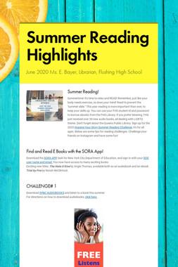 Summer Reading Highlights