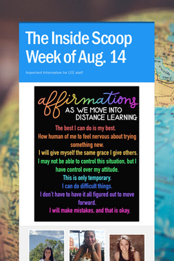 The Inside Scoop Week of Aug. 14