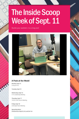 The Inside Scoop Week of Sept. 11