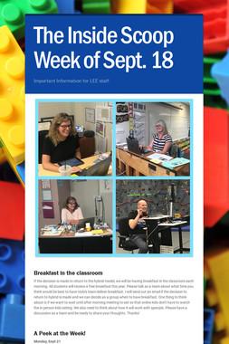 The Inside Scoop Week of Sept. 18