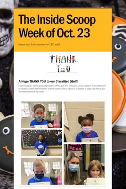 The Inside Scoop Week of Oct. 23