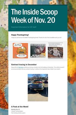 The Inside Scoop Week of Nov. 20