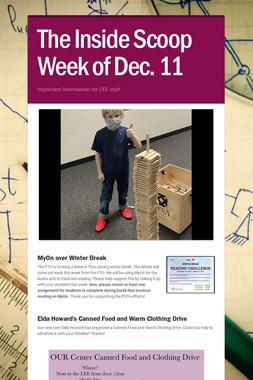 The Inside Scoop Week of Dec. 11