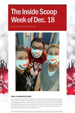 The Inside Scoop Week of Dec. 18