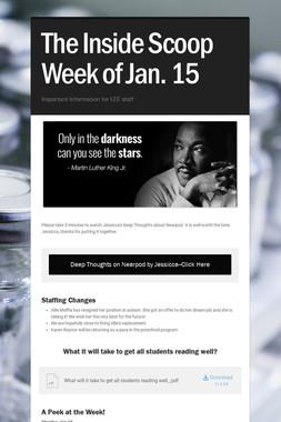 The Inside Scoop Week of Jan. 15