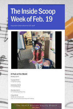 The Inside Scoop Week of Feb. 19