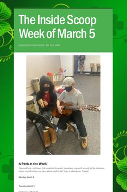 The Inside Scoop Week of March 5