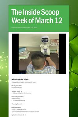The Inside Scoop Week of March 12