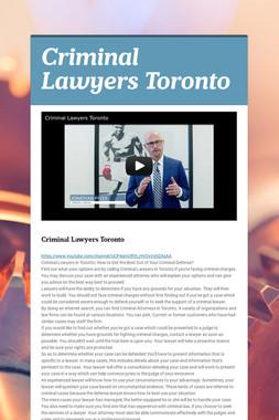 Criminal Lawyers Toronto