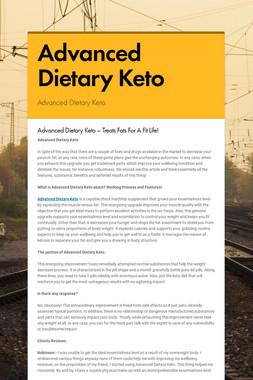 Advanced Dietary Keto