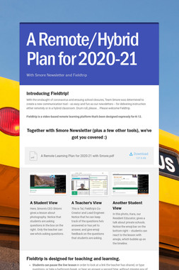 A Remote/Hybrid Plan for 2020-21