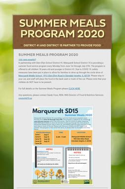 Summer Meals Program 2020