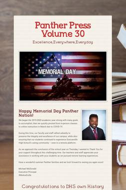 Panther Press Volume 30