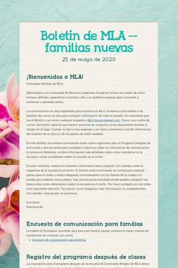 Boletín de MLA -- familias nuevas