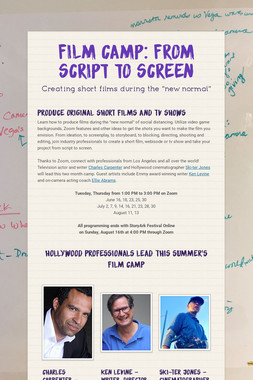 Film Camp: from script to screen