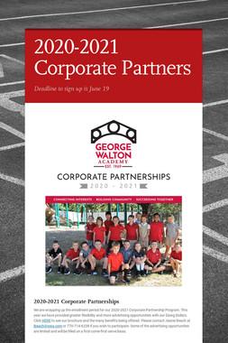 2020-2021 Corporate Partners