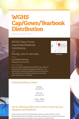 WGHS Cap/Gown/Yearbook Distribution
