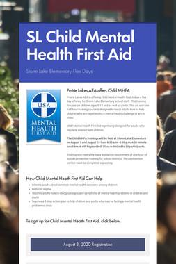 SL Child Mental Health First Aid