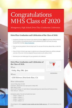 Congratulations MHS Class of 2020