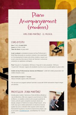 Piano Acompanyament (modern)