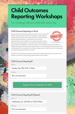 Child Outcomes Reporting Workshops