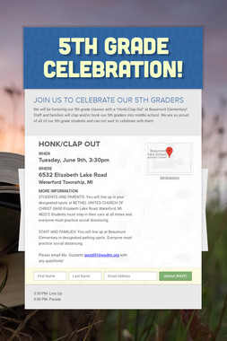5th Grade Celebration!