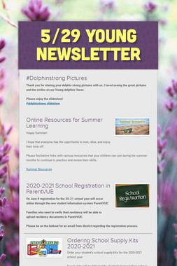 5/29 Young Newsletter
