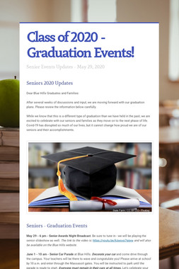 Class of 2020 - Graduation Events!
