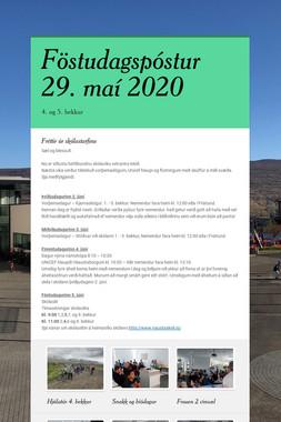Föstudagspóstur 29. maí 2020