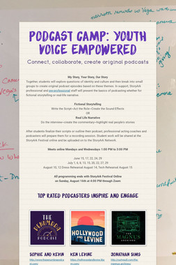Podcast Camp: Youth Voice Empowered