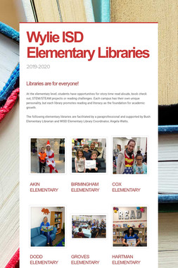 Wylie ISD Elementary Libraries
