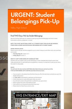 URGENT: Student Belongings Pick-Up
