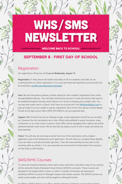 WHS/SMS Newsletter