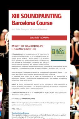 XIII SOUNDPAINTING Barcelona Course