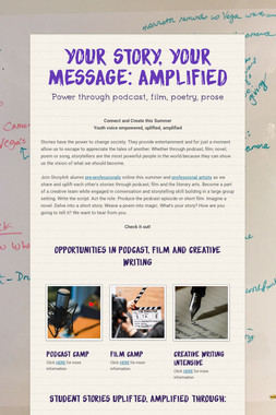 Your story, your message: AMPLIFIED