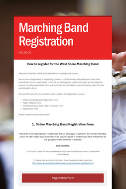 Marching Band Registration