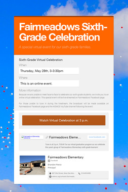 Fairmeadows Sixth-Grade Celebration