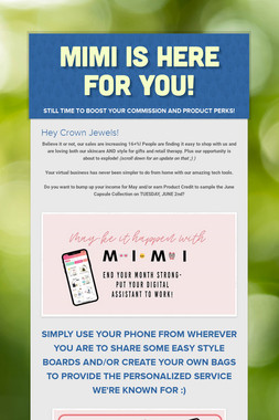 MIMI is here for you!